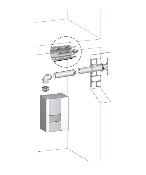 wie ist eine abgasleitung mit au enwandverlegung aufgebaut skoberne. Black Bedroom Furniture Sets. Home Design Ideas